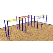 Kidstuff Playsystems, Inc. Fitness Center 5142 Color: Blue and White