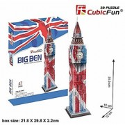 Big Ben in London 3D Puzzle British England Color
