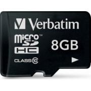 Card de Memorie Verbatim microSDHC 8GB Class 10