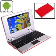 7.0 inch Android 4.4 Notebook PC EPC 701 CPU: VIA WM8880 Dual Core 1.5GHz(Red)