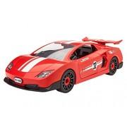 Revell - 00800 - Voiture - Racing Car à monter - Rouge - Échelle 1/20 - 21 pièces