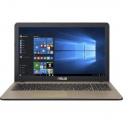 Laptop Asus A540SA-XX575T 15.6 inch HD Intel Celeron N3060 4GB DDR3 500GB HDD Windows 10 Chocolate Black