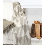2 Pack 100% Cotton Throw Blanket Taupe
