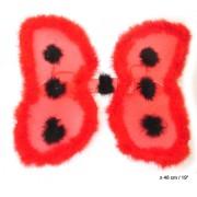 Aripi buburuza, 54x48cm rosu cu buline negre - Cod 53402