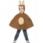 Costum Craciun copii Ren Poncho