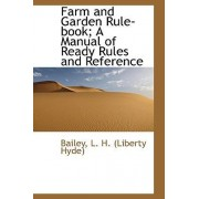 Farm and Garden Rule-Book; A Manual of Ready Rules and Reference by Bailey L H (Liberty Hyde)