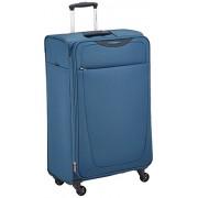Samsonite Base Hits Spinner 77/28 Expandable Suitcase, 77 cm, 104 L, Steel Blue
