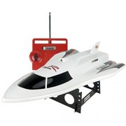 Hotkey® Large Remote Control Boats 3CH High Powered 7.2V Toy Boat Plastic Model RC Flying Fish Outdoor Toys