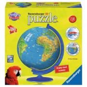 Puzzle 3D Globul Lumii pentru Copii, 180 Piese