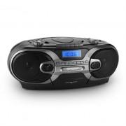 Auna RCD 230 Portable CD Stereo AM/FM Radio Cassette USB SD MP3 Black