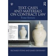 Text, Cases and Materials on Contract Law by Richard Stone