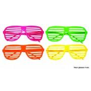 Ochelari petrecere Disco fluorescenti - Cod 60991