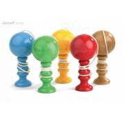 JANOD 04013 Jucărie tradiţională din lemn CADET ROUSSEL CUP&BALL albastru verde galben roşu marou de la 7 ani