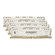 Ballistix Sport LT Kit Memoria da 32 GB (8 GBx4), DDR4, 2400 MT/s, (PC4-19200) DIMM 288-Pin - BLS4C8G4D240FSC, Bianco