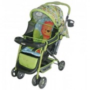 Polly's Pet Reversible Baby Stroller Lion Printed 2051 Green