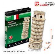 Cubic Fun 8-Pieces 3D PUZZLE LEANING TOWER OF PISA MODEL SCULPTURE