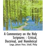 A Commentary on the Holy Scriptures by Lange Johann Peter