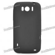 Housse de protection PVC souple pour HTC Sensation XL X315e G21 - Noir
