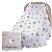 Barnaby Belle 'Night' Baby Car Seat Covers Girls or Boys Infant Carseat Canopy Cover