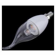 EH E12 3W blanco cálido SMD 3535 Bombilla Luz de velas de llama LED AC 85-265V Tipo Liso (Color blanco)