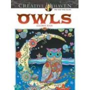 Creative Haven Owls Coloring Book by Marjorie Sarnat