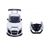Toyhouse Officially Licensed Rastar Audi R8 LMS 1:14 Scale Model Car, White