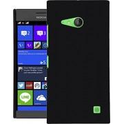 Lumia 730 Dual SIM Case, QUICKSAND [Extra Slim Fit] Hybrid rubberized Protective Hard Case for Nokia Lumia 730 Dual SIM Black