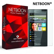 NETBOON® Original Tempered Glass Screen Protector for Blackberry Z3 - Anti Explosion, Crystal Clear Screen Guard, Shatterproof, Anti-Scratch Screen Protector, Bubble-free, Oleophobic Coating, 2.5D Round Edge - 9H Hardness Protect Mobile Screen from Scratc