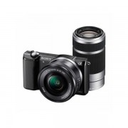 Aparat foto Mirrorless Sony Alpha A5000 20.1 Mpx Black Kit SEL 16-50mm si SEL 55-210mm