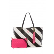 Betsey Johnson All That Jazz 2-in-1 Tote STRIPE