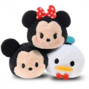 Disney Tsum Tsum Set of 3 Mickey Mouse Minnie Mouse and Donald Duck Mini Plush 3.5