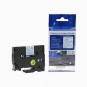Brother TZ-133 / TZe-133, 12mm x 8m, modrý tisk / průhledný podklad kompatibilní