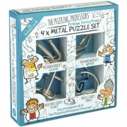 Ördöglakat 4 db-os készlet gyerekeknek Metal Puzzle Szett 1425