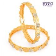 Sukkhi Golden Sliver Gold Plated Bangles For Women