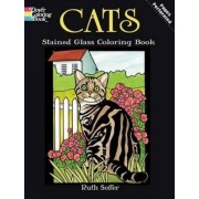 Cats Stained Glass Coloring Book by Ruth Soffer