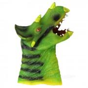 Silicona triceratops mano dedo juguete