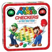 [Import Anglais]Super Mario Checkers & Tic Tac Toe Collectors Game Set