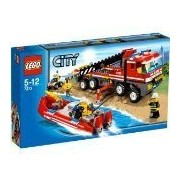 LEGO City Set #7213 OffRoad Fire Truck & Fireboat by LEGO