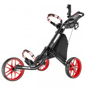 CaddyTek EZ-Fold 3 Wheel Golf Buggy / Push Cart - Red