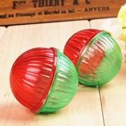 Brinquedo Para Gato Brinquedo Para Cachorro Brinquedos para Animais Bola rangido Boca de Sino Cor Aleatória Plástico