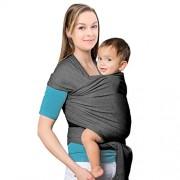 Mture Fular Portabebés,Original de Algodon Natural Fular Portabebes,bebé de sexo masculino y femenino Baby Wrap,Lleve a su bebe cerca de su corazón ,Gris