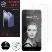 Huawei P10 5.1 (Non Compatible Huawei P10 Plus/ P10 Lite): Lot / Pack De 3 Films De Protection D'écran Verre Trempé