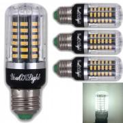 Youoklight E27 5W 56 SMD-5736 LED bombillas de maiz blanco frio (4Pcs)