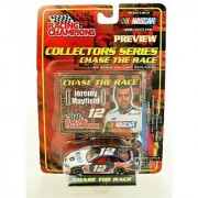 2001 - Ertl - Racing Champions - NASCAR - Chase the Race Series - Jeremy Mayfield #12 - Mobil 1 - Ford Taurus - 1:64 Scale Die Cast - Limited Edition - Collectible