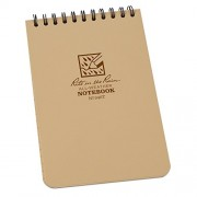 Rite In The Rain Pocket Notebook Top Spiral Bound Tan (Size 4X6 In)
