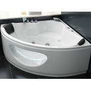 Whirlpool Badewanne Toskana mit 10 Massage Düsen + Glas + Beleuchtung Luxus S...