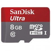 SanDisk Ultra Micro SDHC 8 GB UHS-I Class 10 Memory Card 48 MB/s + SD Adapter (SDSDQUAN-008G-G4A)