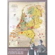Kalender - Travel Gadget Verjaardagskalender met afbeeldingen van oude schoolkaarten   Bakker en Rusch