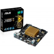 Asus J1800i-C - mini-iTX - all-in-one mb with Integrated cpu , intel baytrail celeron J1800 cpu ( 10w TDW ULV ) - Dual core , 2.41/2.58Ghz ( with VT-x , 22nm , 1mb L2 cache ) , UEFi mouse-controlled bios Network iControl , 5K Solid Capacitors overcurren