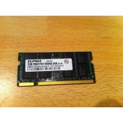 MEMOIRE PC PORTABLE . DDR2 . ELPIDA . 2GB 2Rx8 PC2 - 6400S - 666 12 - E1 / EBE21UE8ACUA-8G-E